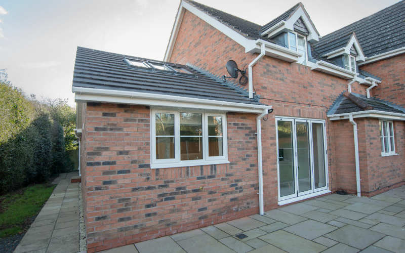 Extension added to side of house rear