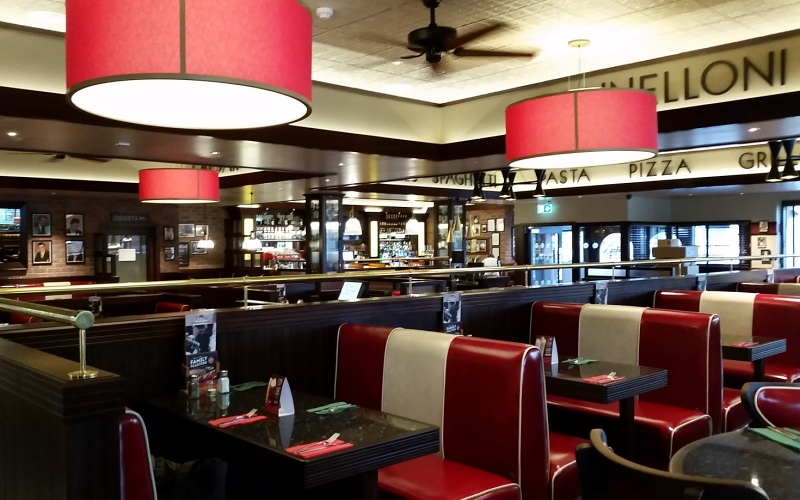 Frankie and Bennys brand interior design