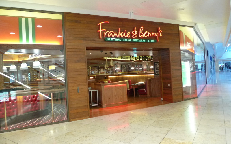 Frankie and Bennys in shopping centres