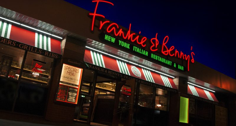Frankie and Bennys branding