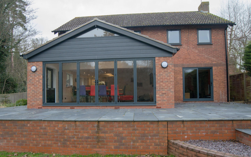 Kitchen and family room rear extension