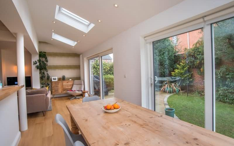 Rear Single Storey Kitchen Extension For Semi Detached House In Worcester