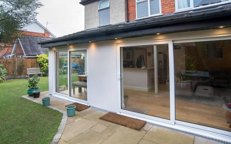 Rear single storey kitchen extension